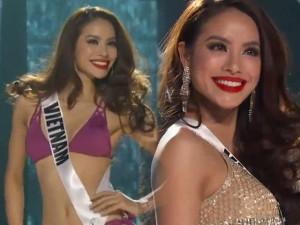 Thời trang - Phạm Hương quá gợi cảm tại bán kết Miss Universe 2015