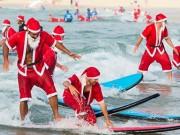 Thể thao - Hàng trăm ông già Noel xô đổ kỷ lục lướt sóng