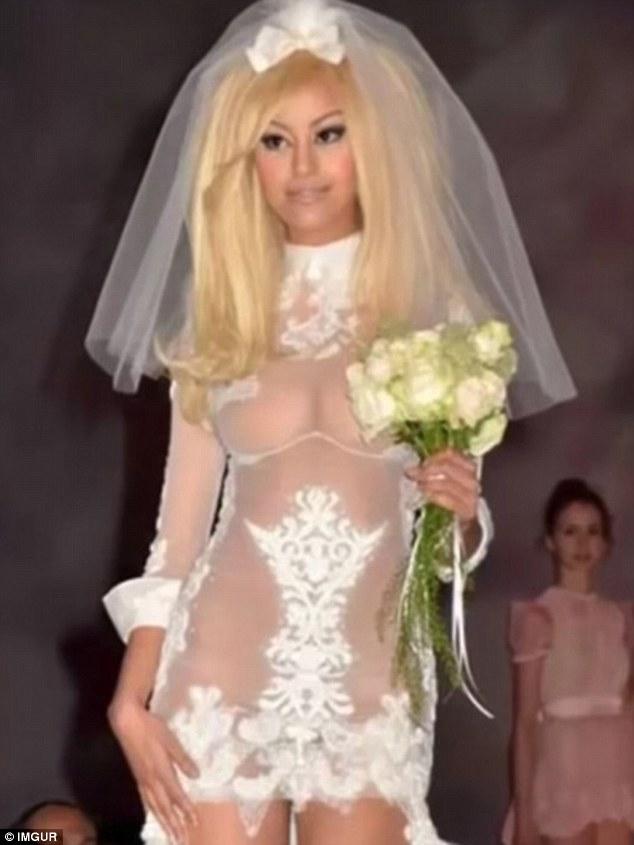 Kinh ngạc với những bộ váy cưới thiếu vải, kỳ dị - 6
