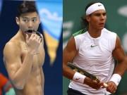 """Thể thao - Thú vị: Nadal đọ tài bi-a với """"hot-boy"""" bơi lội"""