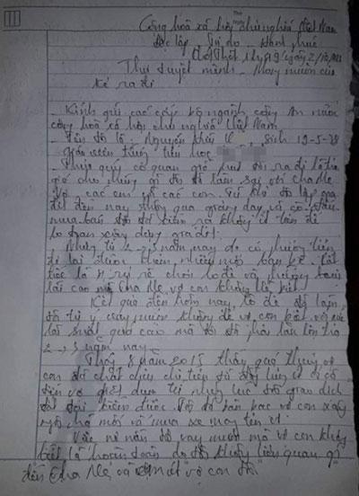 Thầy giáo treo cổ tự tử để lại thư tuyệt mệnh