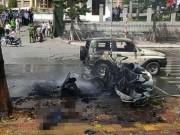 Tin tức trong ngày - [Nóng] Nổ xe taxi ở Quảng Ninh, 2 người tử vong