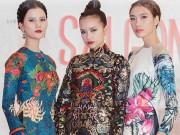 Thời trang - Quán quân Next Top diện áo dài rực rỡ như hoa hậu