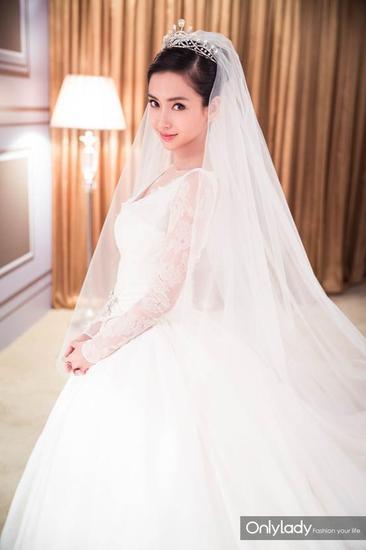 Những mẫu váy cưới đẹp như mơ của sao Hoa ngữ - 12
