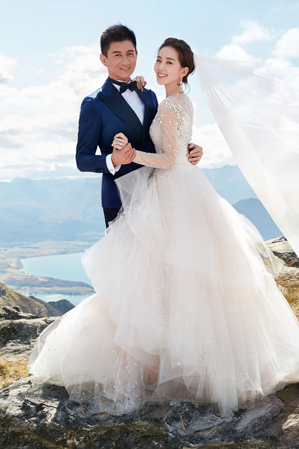 Những mẫu váy cưới đẹp như mơ của sao Hoa ngữ - 16