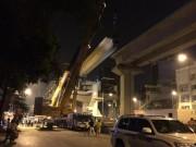Tin tức trong ngày - HN: Cấm phương tiện để phục vụ lắp dầm đường sắt trên cao