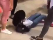 Giáo dục - du học - Thái Bình: Xuất hiện clip nữ sinh áo trắng bị đánh hội đồng dã man