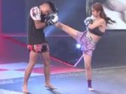 """Thể thao - """"Nữ thần boxing"""" Trung Quốc tung cước hạ đấng nam nhi"""