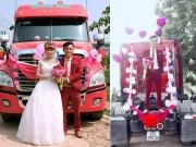 """Bạn trẻ - Cuộc sống - 9x Bắc Giang rước dâu """"cực chất"""" bằng xe container"""