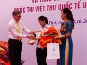 Giáo dục - du học - Trao giải nhất cuộc thi viết thư Quốc tế UPU lần thứ 45