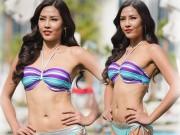 Thời trang - Nguyễn Thị Loan trình diễn áo tắm bốc lửa trên sàn quốc tế