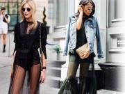Thời trang - Khi mốt chân váy xuyên thấu áp đảo đầm áo ngàn lỗ
