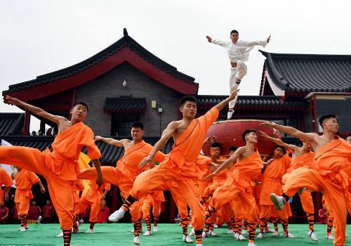 Choáng ngợp màn đồng diễn võ Thiếu Lâm tuyệt đỉnh