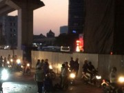 Tin tức trong ngày - HN: Công nhân rơi từ công trình đường sắt trên cao xuống đất