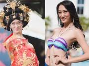Thời trang - Sốc với Hoa hậu Trung Quốc mặt già nhăn