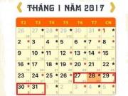 Tin tức trong ngày - Chưa chốt phương án nghỉ Tết Nguyên đán 2017