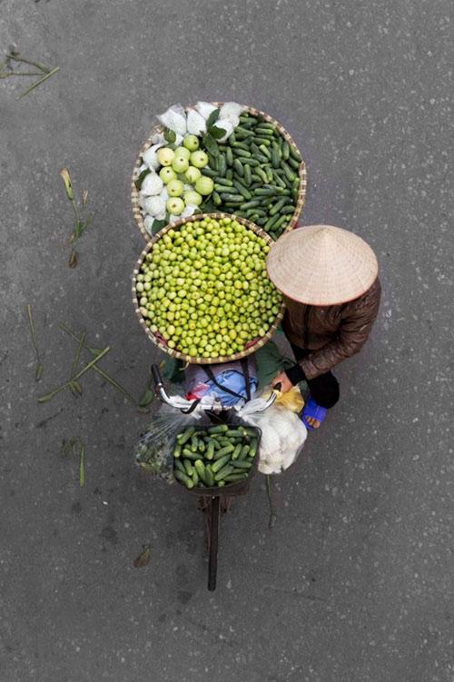 Xe hàng rong Hà Nội đẹp mê hồn nhìn từ trên cao - 12