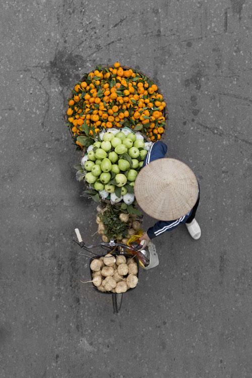 Xe hàng rong Hà Nội đẹp mê hồn nhìn từ trên cao - 6