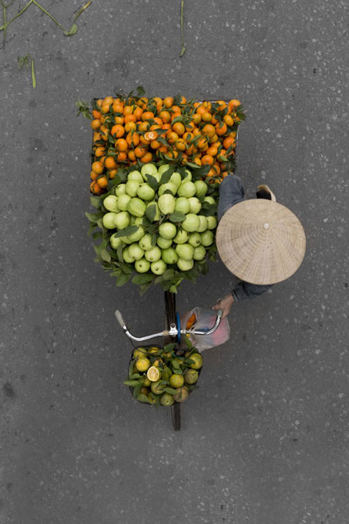 Xe hàng rong Hà Nội đẹp mê hồn nhìn từ trên cao - 7