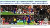 """Báo chí thế giới tôn Messi như """"vị Thánh"""", vùi dập Bravo"""