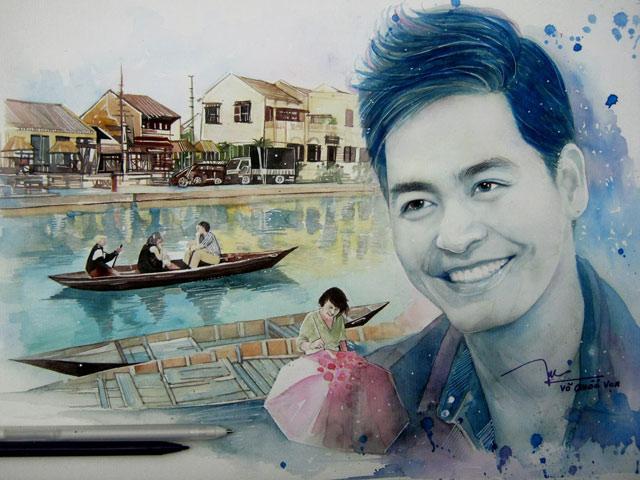 9X vẽ MC Phan Anh rạng rỡ ngắm miền Trung sau cơn bão lũ