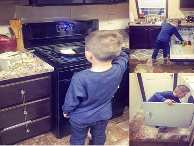 Tại sao mẹ Mỹ dạy con trai 6 tuổi nấu ăn và làm việc nhà?
