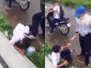Clip: Nam sinh đánh, đạp liên tiếp vào đầu bạn giữa đường
