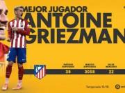 Bóng đá - Cầu thủ hay nhất Liga: Griezmann số 1, CR7 trắng tay