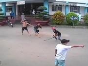 Video An ninh - Clip: Hàng chục côn đồ rượt chém nhau trong bệnh viện