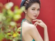 """Thời trang - Á hậu Việt Nam """"gây thương nhớ"""" với áo yếm, lưng trần"""