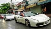 """Ferrari F12 suýt tông trúng Ferrari 488 GTB của Cường """"Đô La"""""""