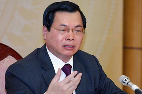 Bộ trưởng Bộ Công Thương nói về việc kỷ luật ông Vũ Huy Hoàng
