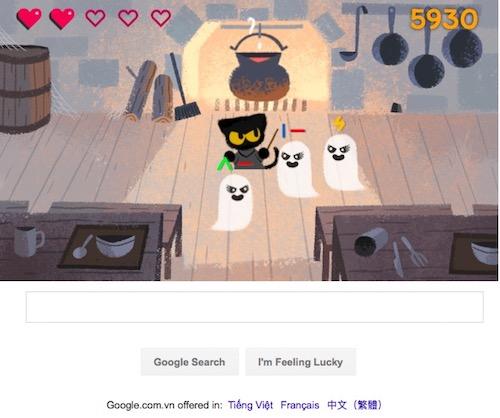 "Chơi game ""Diệt trừ yêu ma"" trên Google Search - 3"