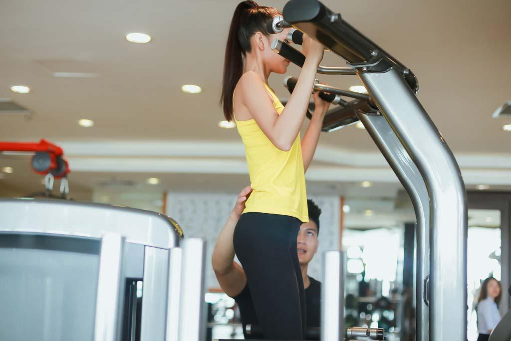Ngắm chân dài Ngọc Châu gợi cảm tập gym - 14