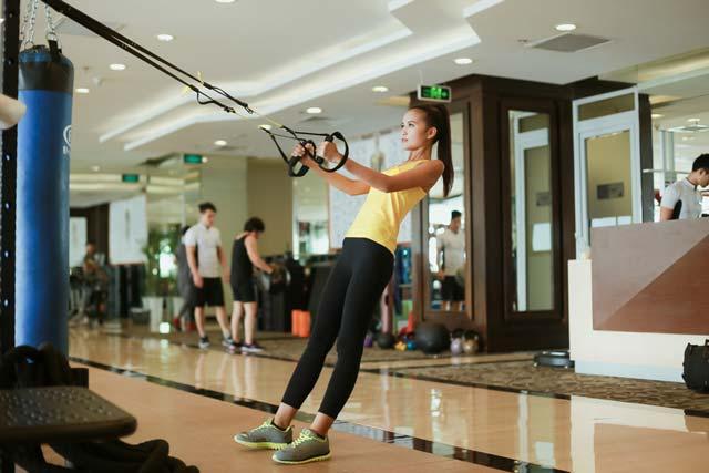 Ngắm chân dài Ngọc Châu gợi cảm tập gym - 12