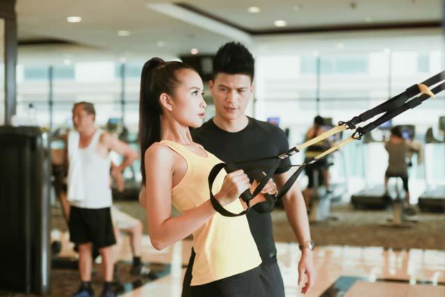 Ngắm chân dài Ngọc Châu gợi cảm tập gym - 11