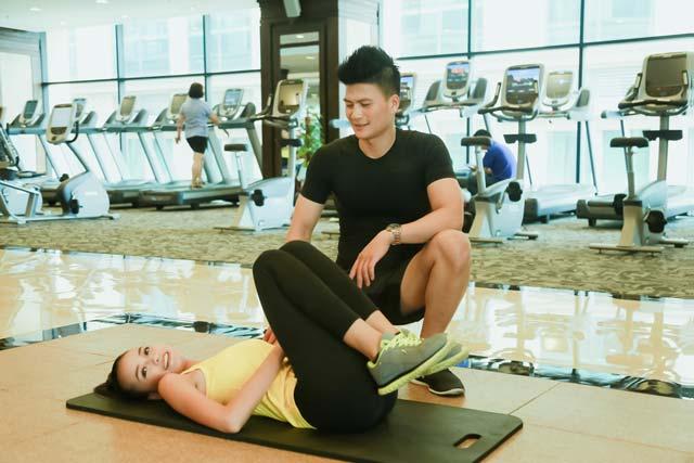 Ngắm chân dài Ngọc Châu gợi cảm tập gym - 18