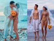 """Ca nhạc - MTV - """"Người tình"""" sexy nhất của Lý Hùng táo bạo mặc bikini chụp ảnh cưới"""