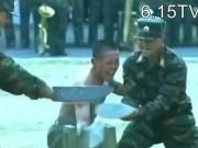 Thể thao - Kung-fu lính Triều Tiên: Dao, sắt, đá…chỉ là xốp