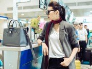 Thời trang - Thanh Hằng sành điệu diện trang sức gần nửa tỉ tại sân bay