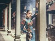 Thời trang - Quán quân Next Top Ngọc Châu hút hồn với áo dài gấm lụa