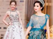 Thời trang - HH Giáng My, Chi Pu diện váy voan mỏng tang phô ngực đầy