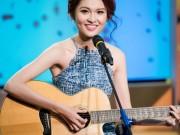 Thời trang - Á hậu Thùy Dung trổ tài hát tiếng Anh trên VTV