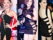 """Đời sống Showbiz - """"Hết hồn"""" vì mỹ nhân Việt diện váy xẻ cao giấu nội y"""