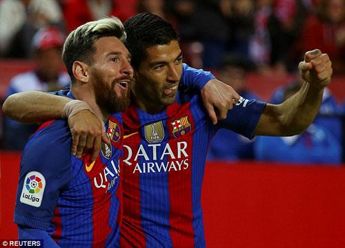 """""""Song tấu"""" Messi – Suarez: Như một cặp trời sinh"""