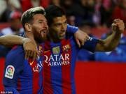 """Bóng đá - """"Tam tấu"""" hay nhất châu Âu: Messi-Suarez-Neymar độc bá"""