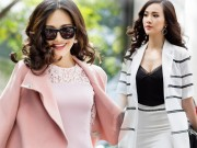 """Thời trang - Mỹ nữ """"nõn nà"""" nhất Hoa hậu Việt Nam hút hồn trên phố"""