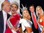 """Thời trang - Ông Donald Trump và những lần bị """"bao vây"""" bởi hoa hậu"""