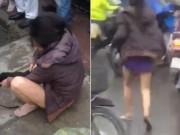 """An ninh Xã hội - Bị """"tố"""" ăn trộm, người phụ nữ tụt quần giữa đám đông"""