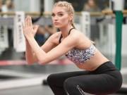 Làm đẹp - Loạt ảnh tập gym nóng bỏng của thiên thần Victoria's Secret